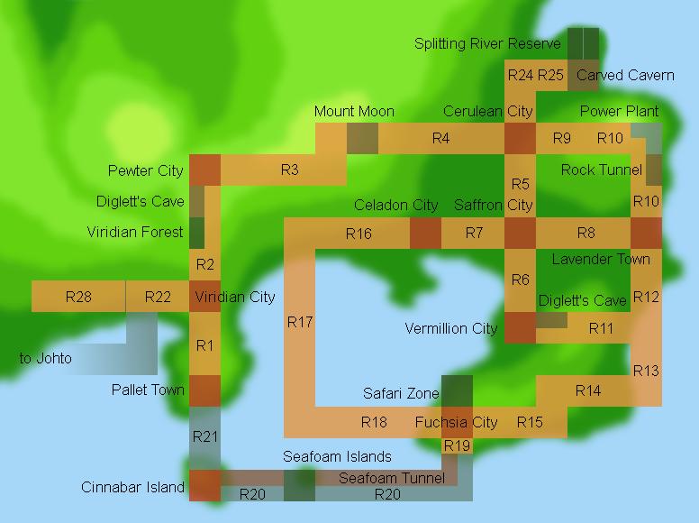 Kanto Map Kanto Map Kanto Map Pokemon Kanto Map Minecraft